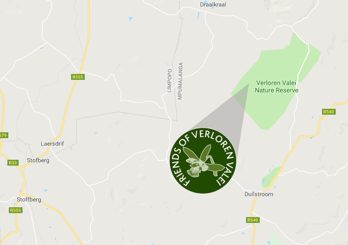 Verloren Valei locality map