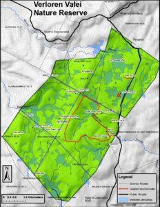 Verloren Valei Nature Reserve Map